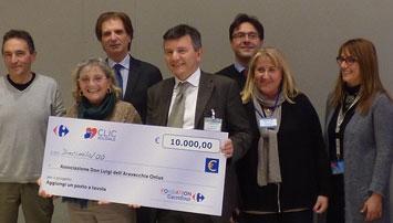 """Abbiamo ricevuto il premio del """"Click Solidale Carrefour"""""""
